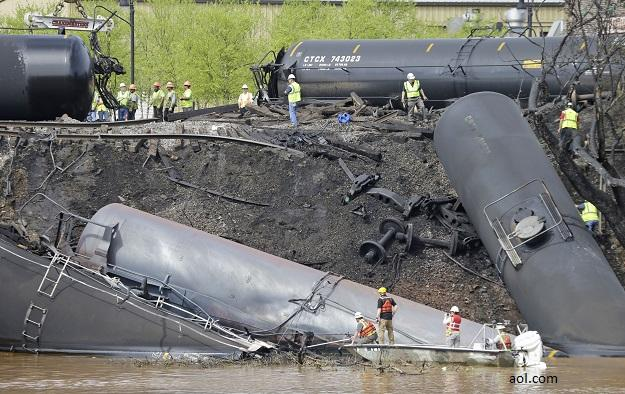 Image of Derailment/spill